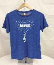 Mellophone Blue Marble Music Tee