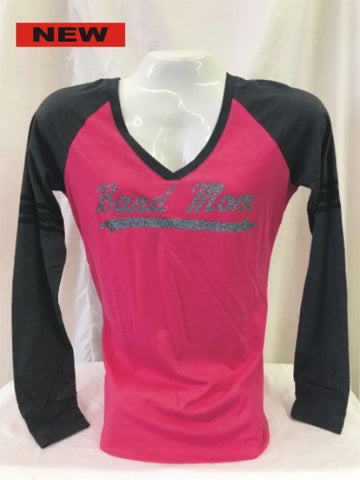 Band Mom Fuchsia Long Sleeve Tee