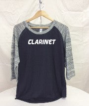 Clarinet 3/4 Sleeve Baseball Jersey
