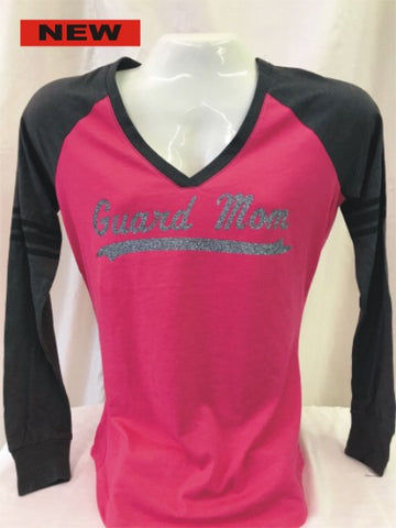 Guard Mom Fuchsia Long Sleeve Tee