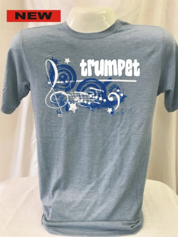 Trumpet Stonewashed Denim Music Tee