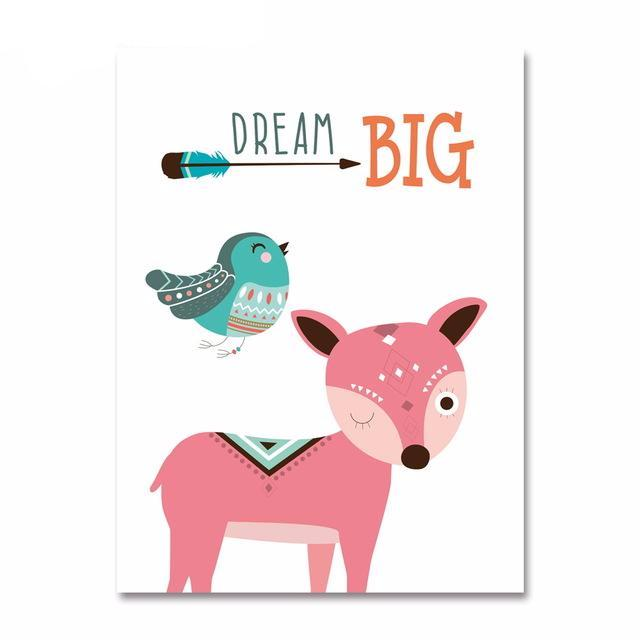 "Affiche ""Dream big"" - Biche"
