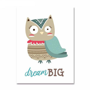 "Affiche ""Dream Big"" - Hibou"