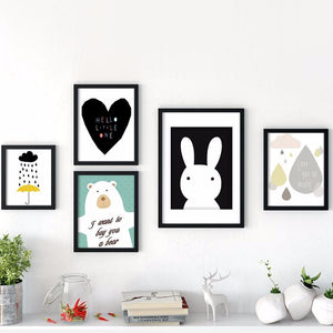 "Affiche ""Little One"" - Lapin blanc"