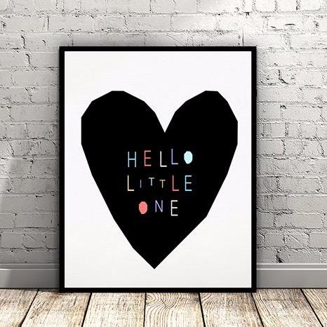 "Affiche ""Little One"" - Coeur"