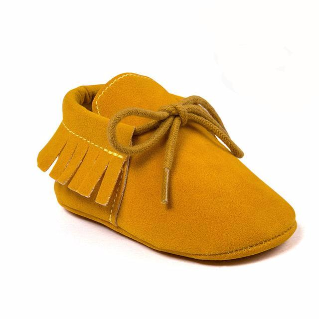 Mocassins à franges  Jaune Moutarde