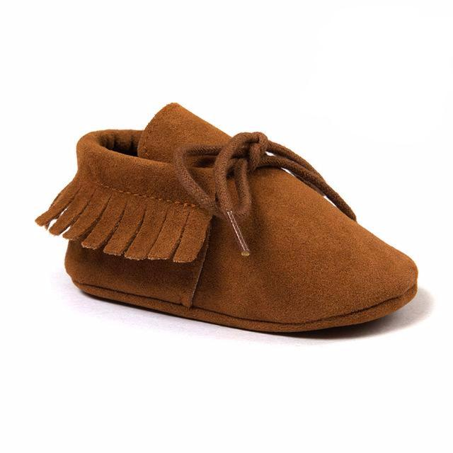 Mocassins à franges Camel