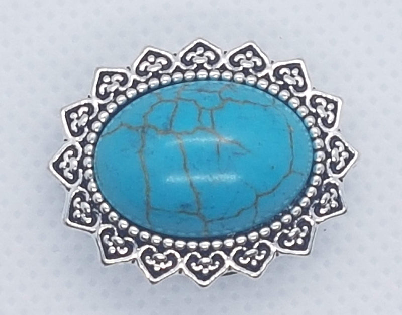 Oval turquoise gem