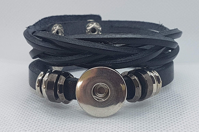 Leather braided bracelet (more color options available)