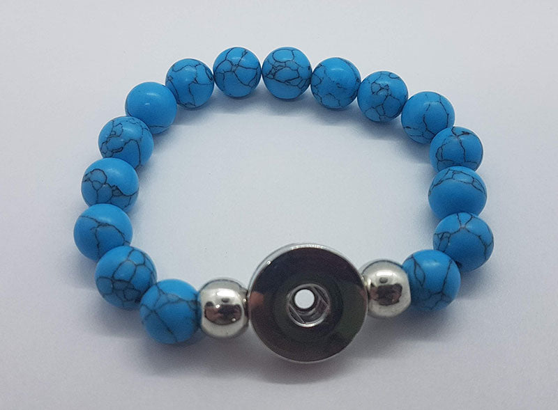 Multi-stone beaded bracelet (more color options available)