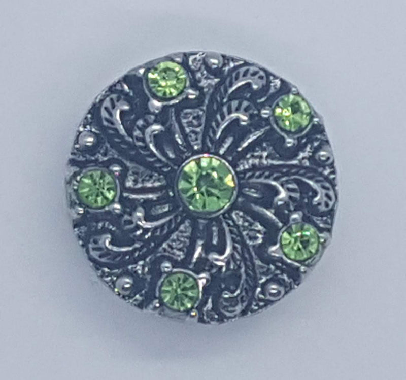 Gem with green rhinestones