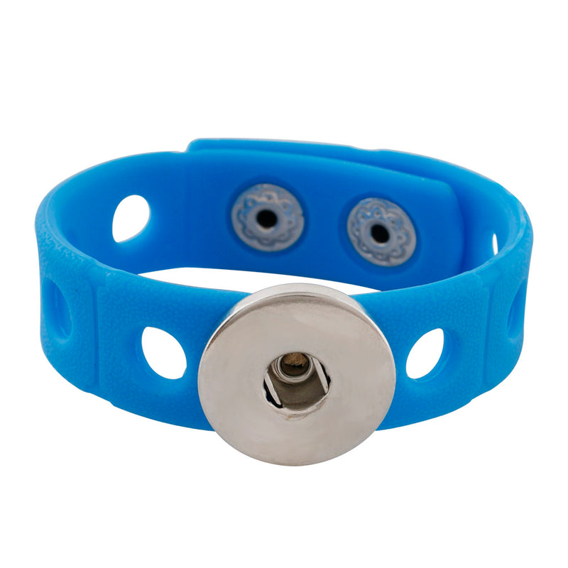Blue silicone stretch bracelet