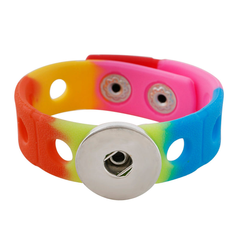 Rainbow silicone stretch bracelet