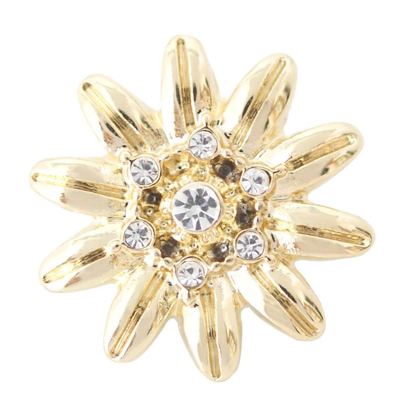 Gold plated flower snap