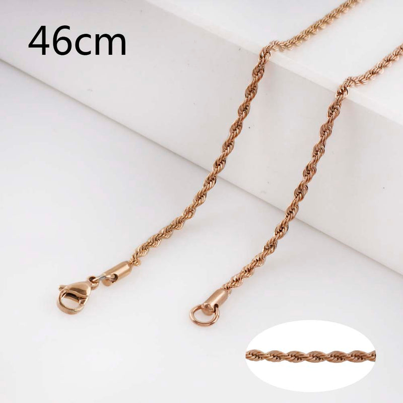 Rose Gold Rope Chain