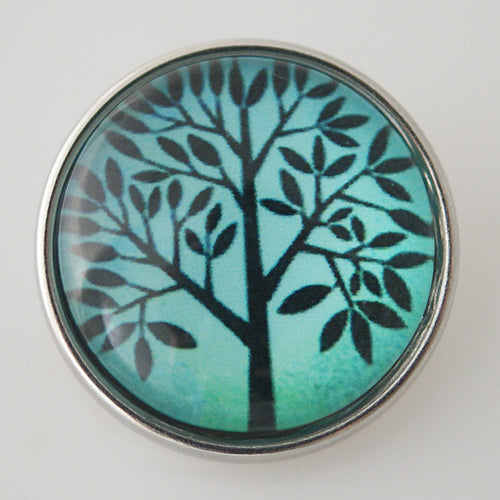 Glass snap with picture of a tree