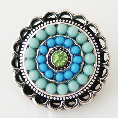 Round snap with small beads (more color options available)