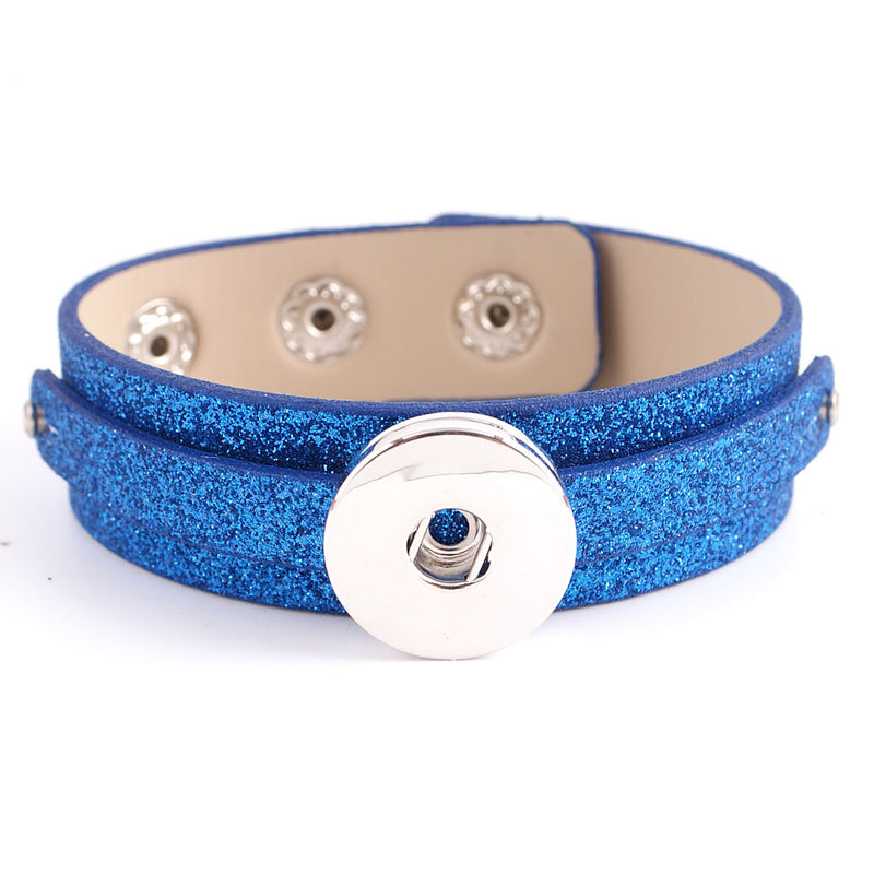 Blue sparkly adjustable bracelet