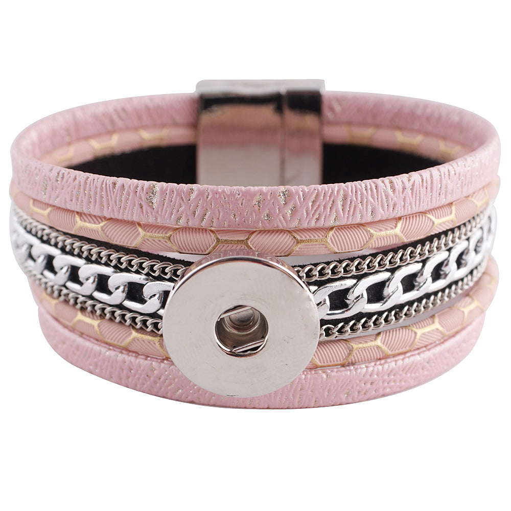 Leather bracelet with multiple layers (more color options available)