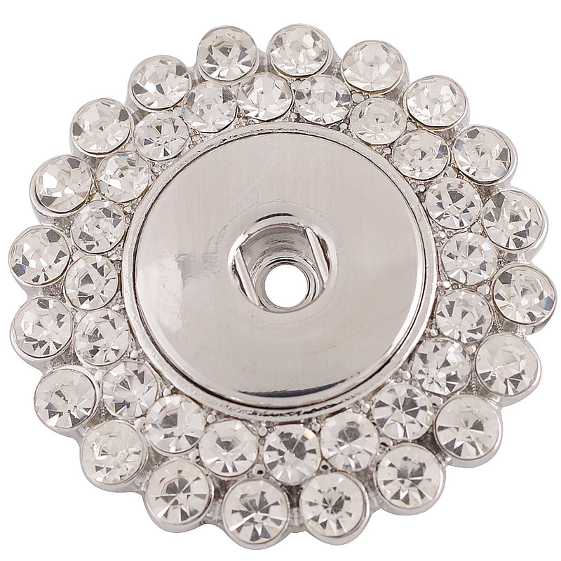 Brooch with clear rhinestones
