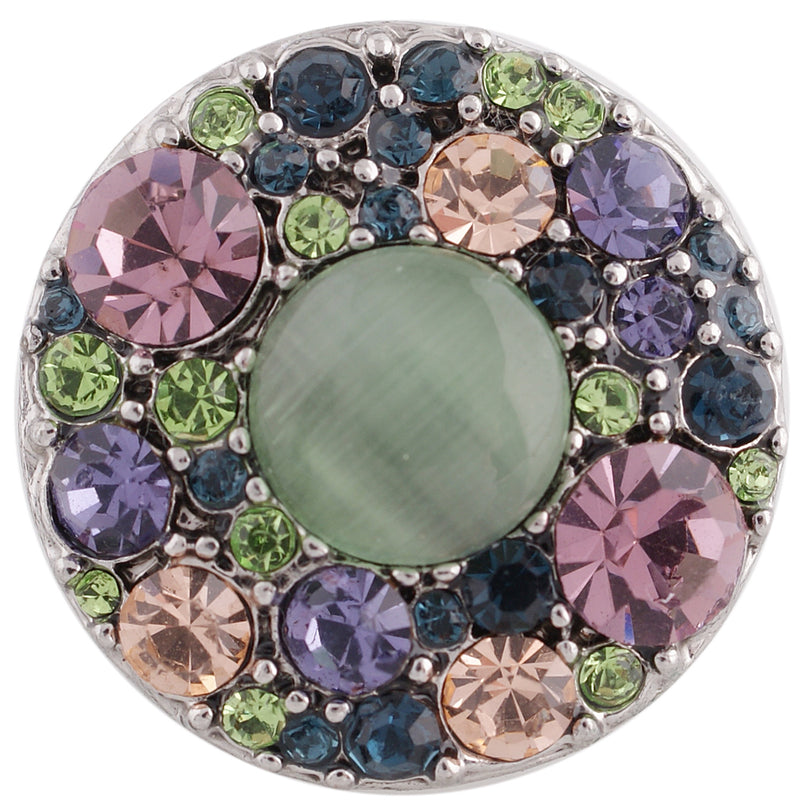 Multi-colored green rhinestone