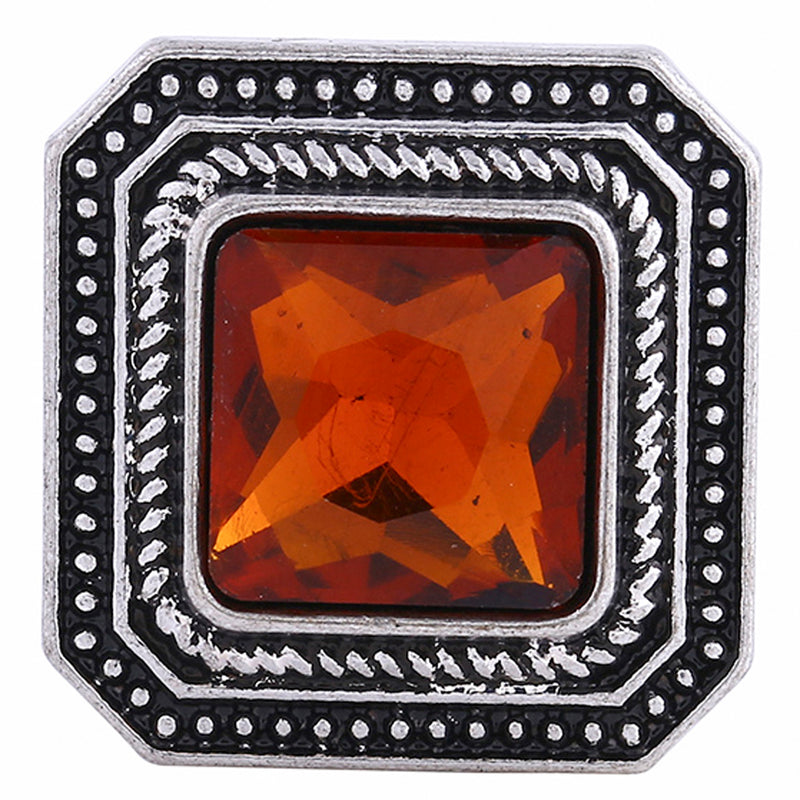 Square shaped snap with large rhinestone (other color options available)