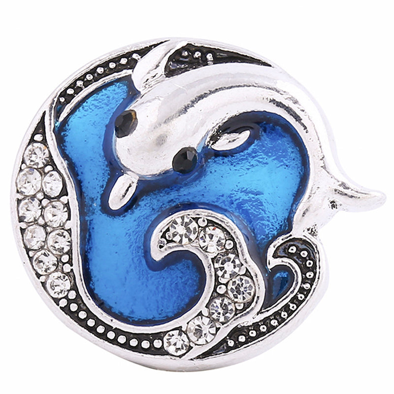 Dolphin with blue enamel