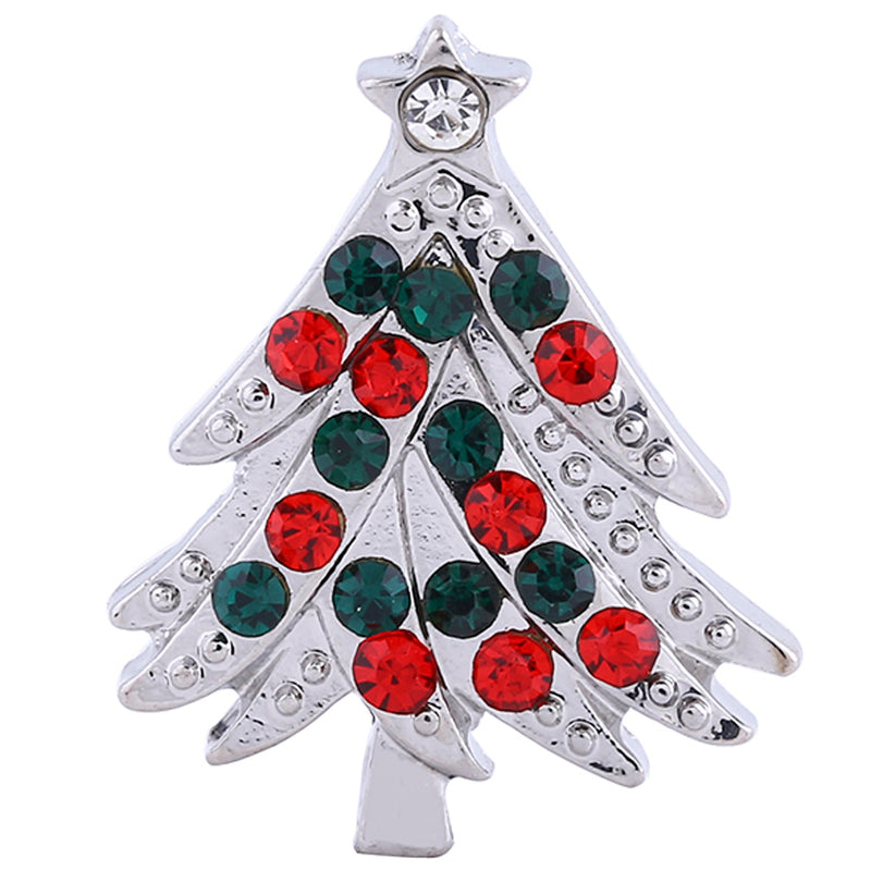 Christmas tree with red and green rhinestones