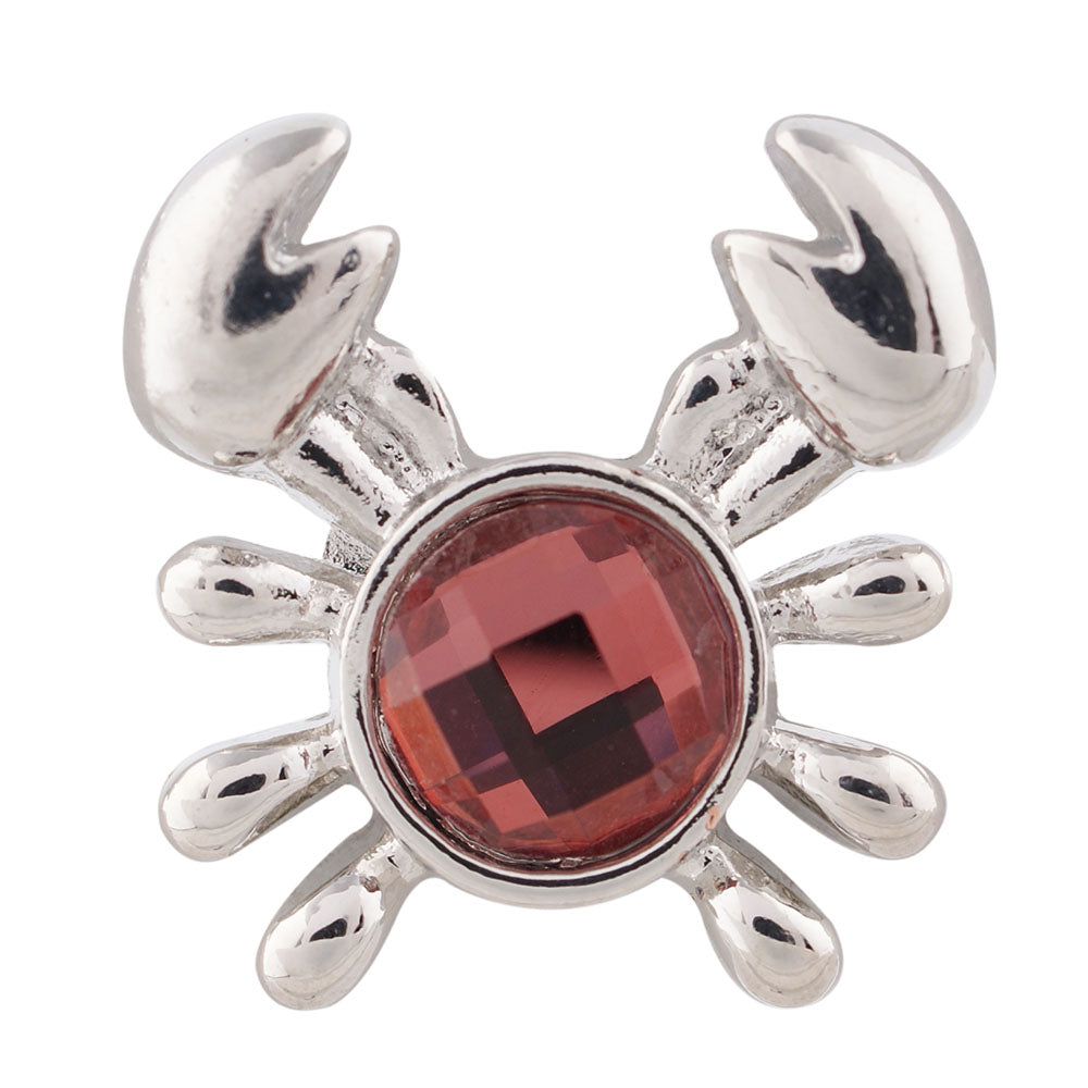 Crab with red rhinestone