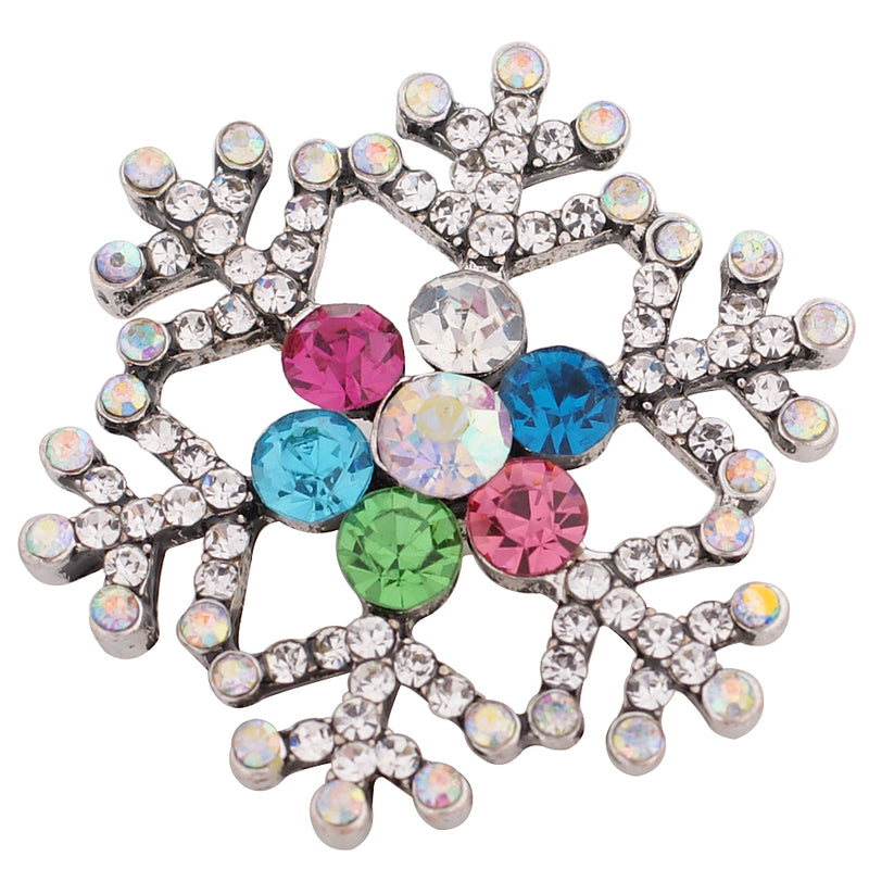 Large snowflake with multi-colored rhinestones