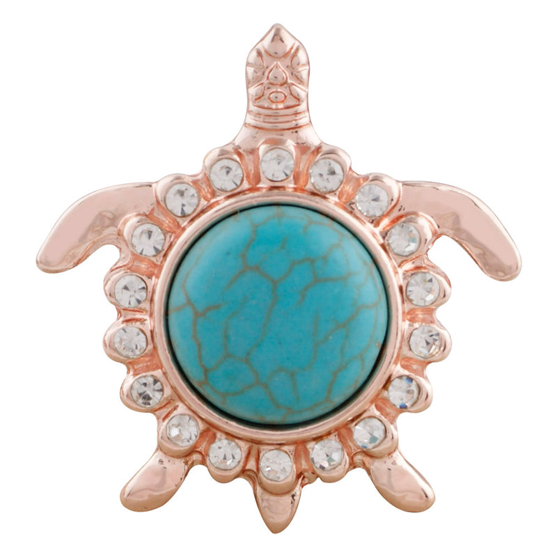 Gold turtle with turquoise stone