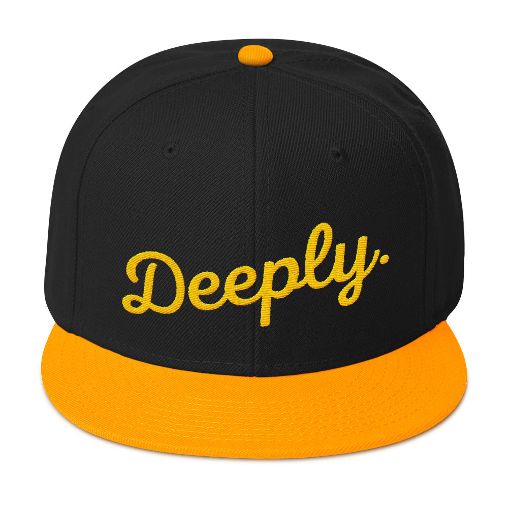 Deeply Snapback Hat in Black & Yellow