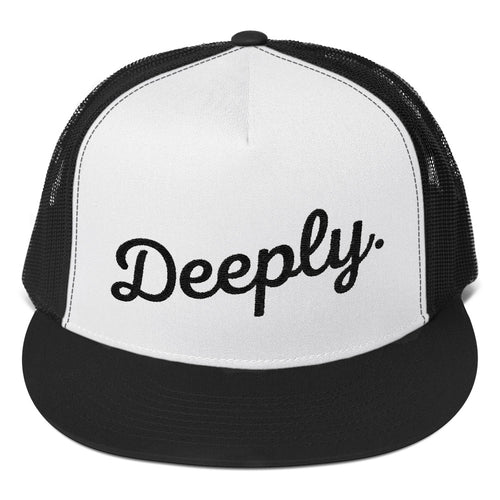 Deeply Trucker Hat in White and Black