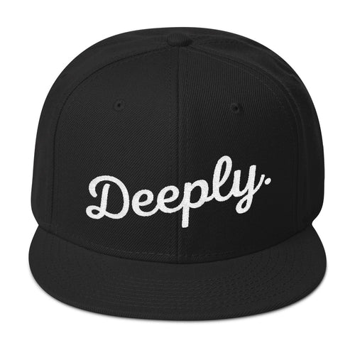 Deeply Snapback Hat in Black & White