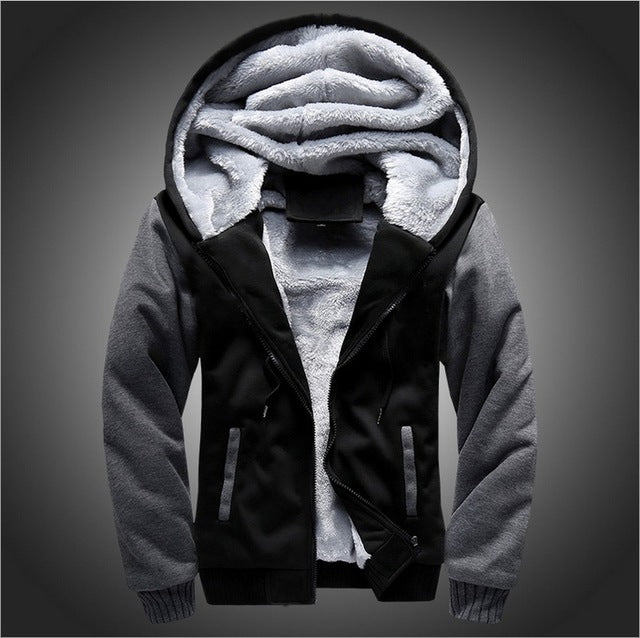 Winter Warm Men's Coats Hooded Jackets