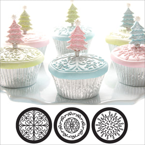 Cupcake and Cookie Texture Tops - Scroll