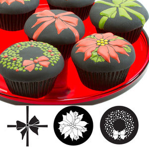 Cupcake and Cookie Texture Tops - Christmas