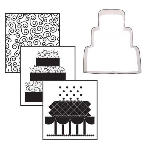 Cookie Cutter Texture Set- Wedding Cake