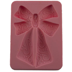 Bow with Swirls Silicone Mold