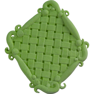 Basketweave Plaque Silicone Mold
