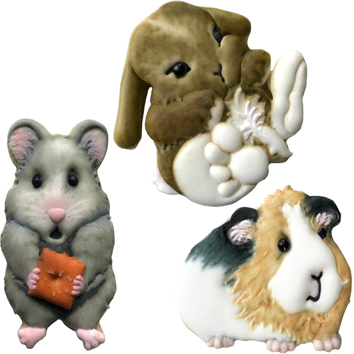 Palm Pets Bunny, Guinea Pig, and Hamster Cookie Cutter Set