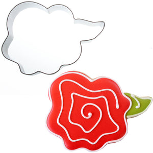 Whimsical Rose Cookie Cutter