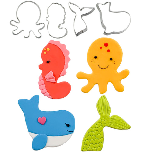 Cutie Cupcake Cutter Set - Sea Critters