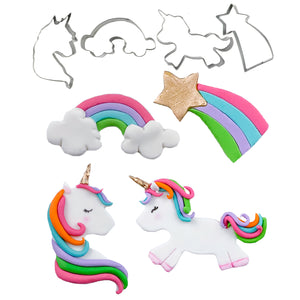 Cutie Cupcake Cutter Set - Unicorn and Rainbows