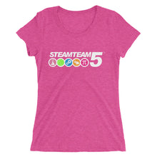 STEAMTEAM 5 Ladies' short sleeve t-shirt (6 colors)