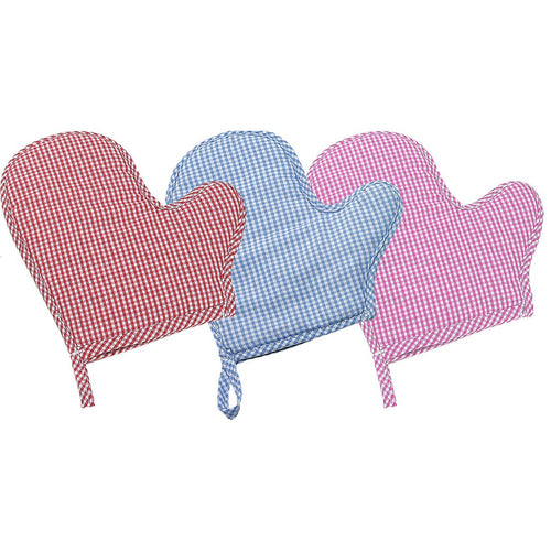 Toy Oven Mitt in Red, Blue or Pink Gingham 2206