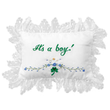It's A Boy/Girl! Shamrock Embroidered Mini Pillow 243