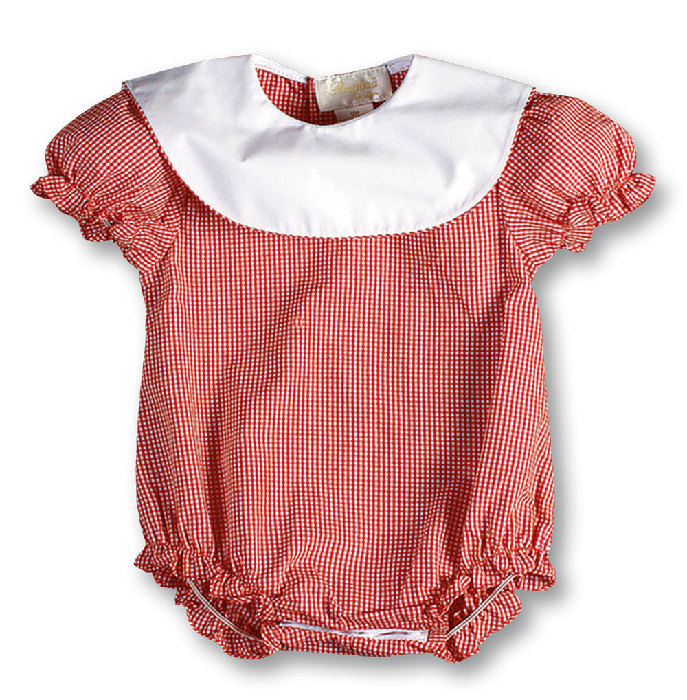 Red Gingham Bubble AYR 2489 BGRD