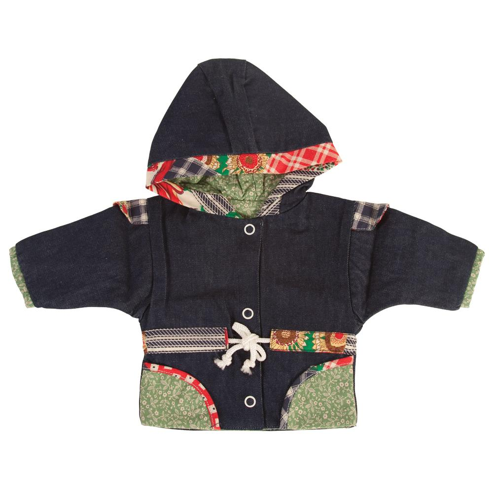 Dark Denim Lined Hooded Doll Jacket 18