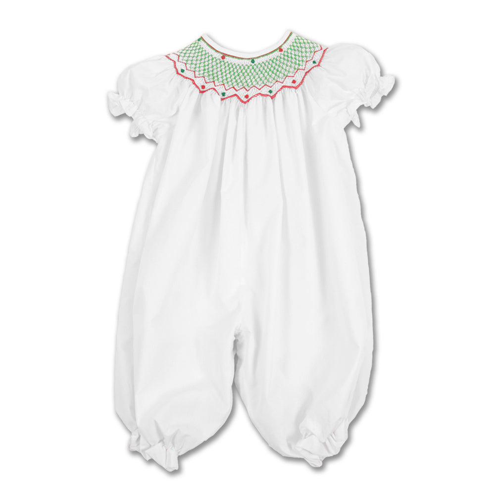 Christmas Carla Smocked White Knicker 12H 2675 K